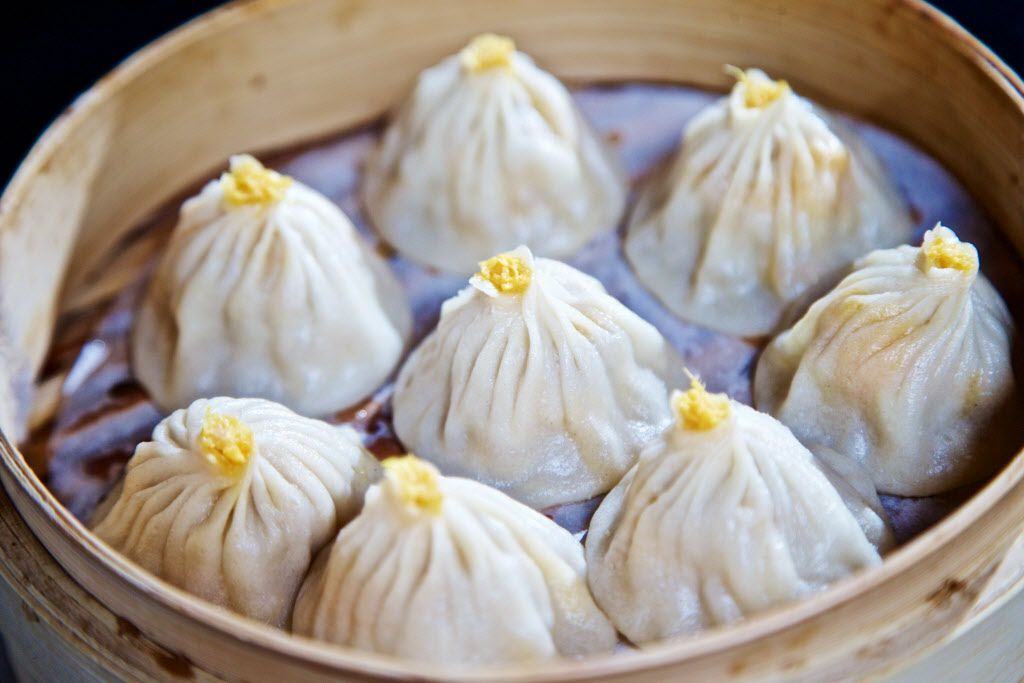 Crab meat steamed dumplings -- also known as xio long bao, or soup dumplings -- at Fortune House