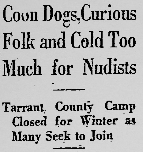 Excerpt from an October 28, 1933 Dallas Morning News article