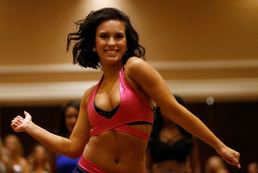 Cameron Resurreccion of Frisco dances during the first day of the Dallas Mavericks Dancers auditions at the Hilton Anatole in Dallas on Saturday, July 15, 2017.