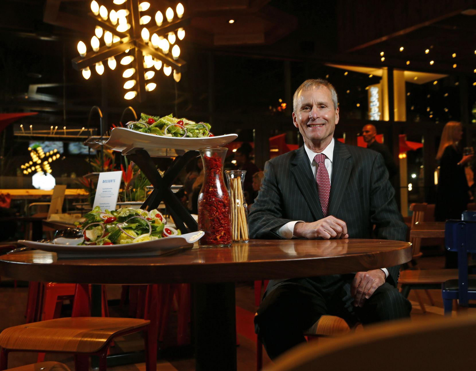 Mike Terry, the new owner of the Cafe Express restaurant chain, at a remodeled and reopened location on McKinney Avenue in Uptown.