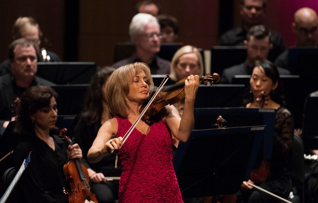 Emmanuelle Boisvert performs Alban Berg's Concerto for Violin and Orchestra with the Dallas Symphony Orchestra, conducted by music director Jaap van Zweden, at Moody Performance Hall on May, 10, 2018.