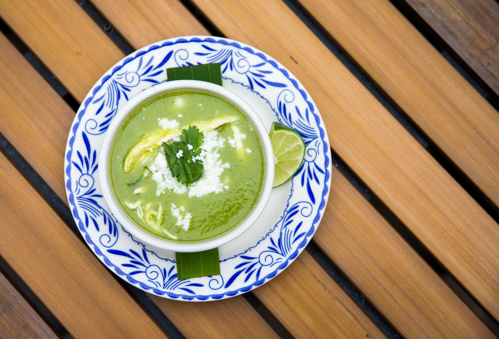 Pozole verde is one of the most popular things on the menu at Meso Maya.