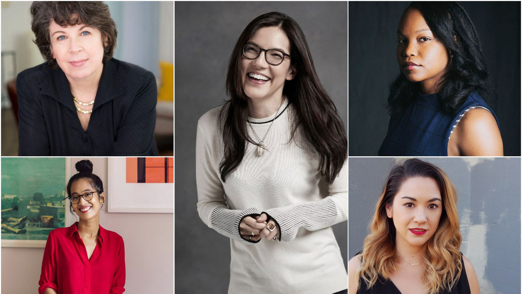Authors including (clockwise from top left) Meg Wolitzer, Sloane Crosley, Nafissa Thompson-Spires, Aja Gabel and Elaine Castillo have penned engaging books about womanhood.