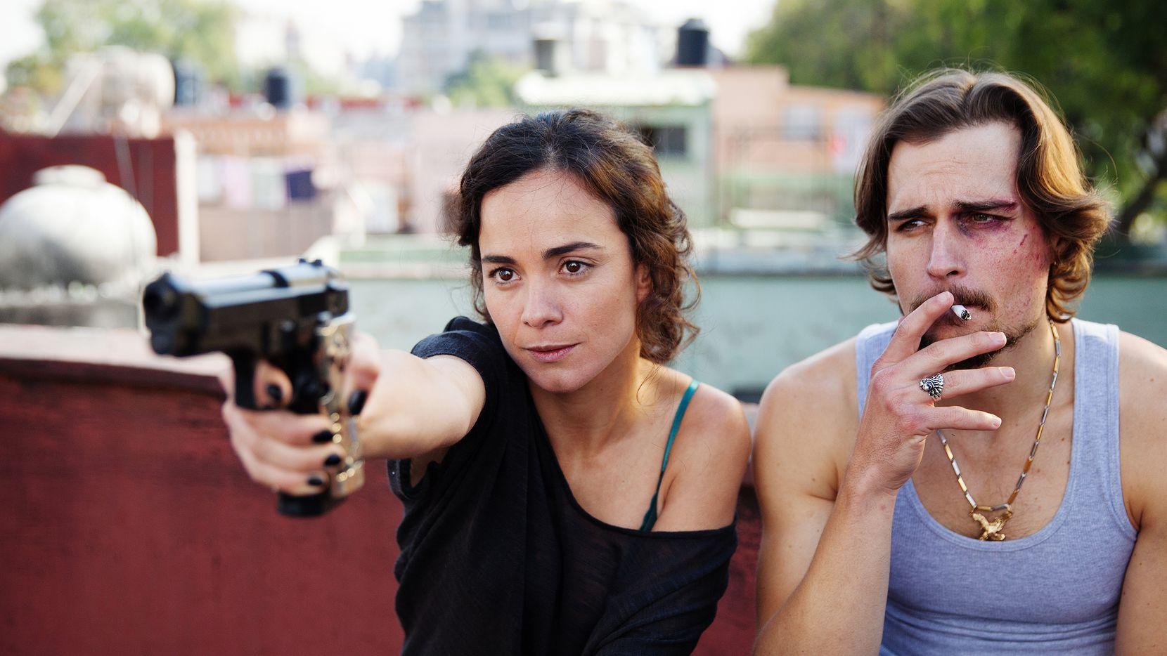 """Alice Braga as Teresa Mendoza, Jon Ecker as Guero  in """"Queen of the South."""""""