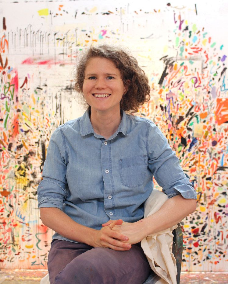 Artist Dana Schutz, honored artist at the 2018 TWO x TWO for AIDS and Art in Dallas.