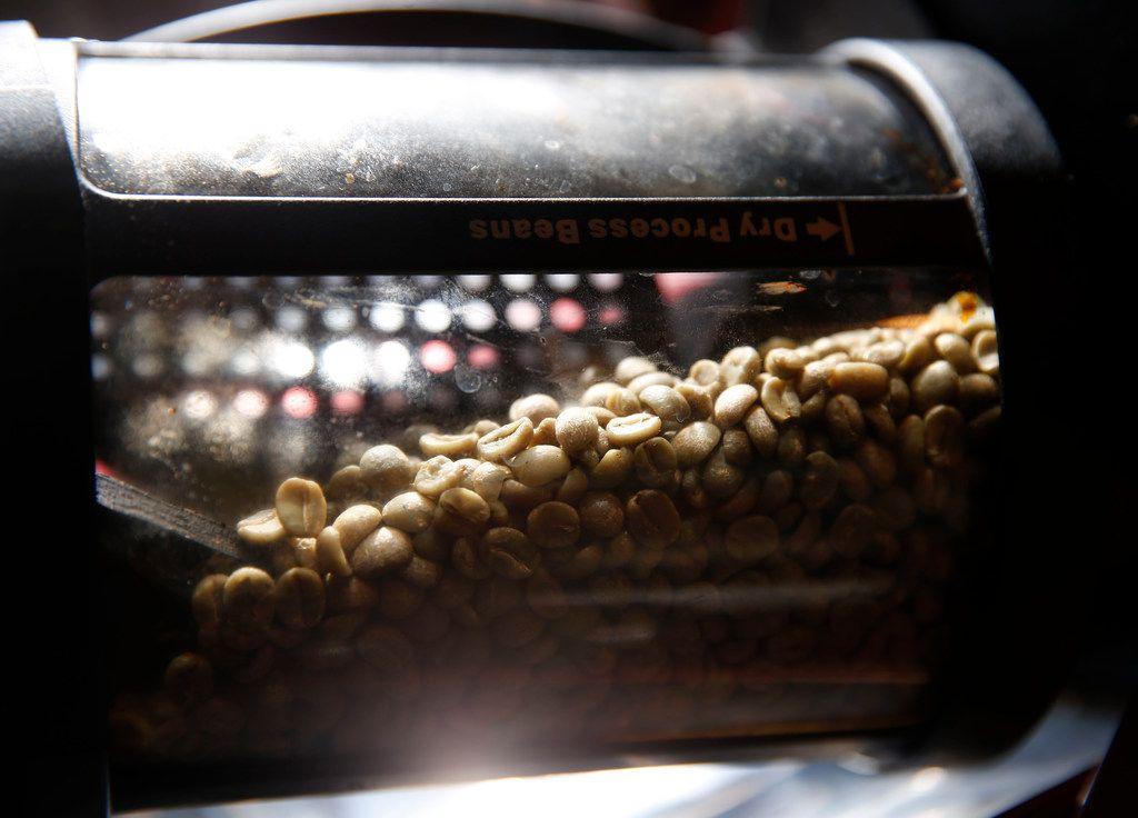 Keith Marton roasts Sweet Maria's Brazil Dry Process Serrinha Yellow Bourbon green coffee beans.
