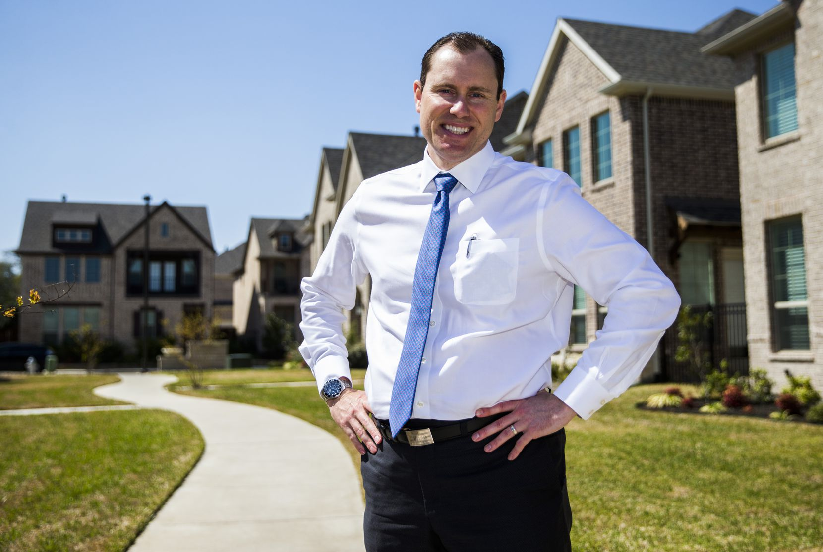 Ben Brewer, managing director of real estate firm Hines, said new homes sold in less than a year in the Delaware at Heritage Crossing development in old central Irving.