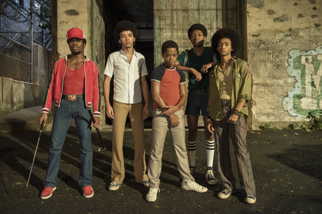 "Shameik Moore, Justice Smith, Tremaine Brown Jr., Skylan Brooks, and Jaden Smith in ""The Get Down"""