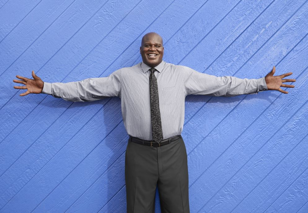 "Shaquille ""Shaq"" O'Neal has a new big and tall men's clothing brand at J.C. Penney. Shaquille O'Neal XLG brand will be in about 350 Penney stores and online on Sept. 13, 2018."