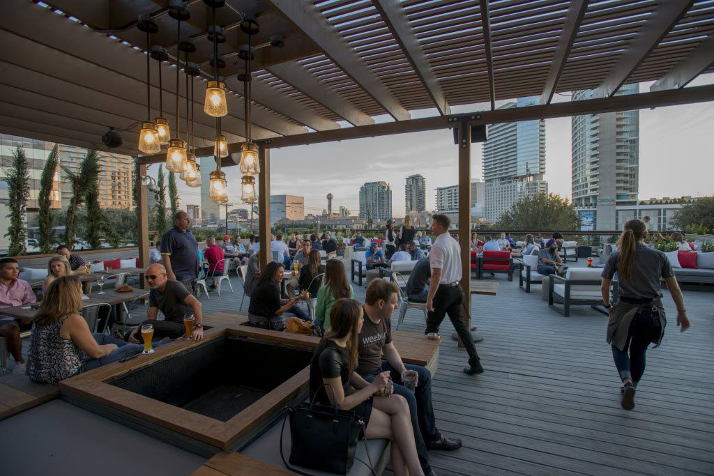 The terrace at Happiest Hour
