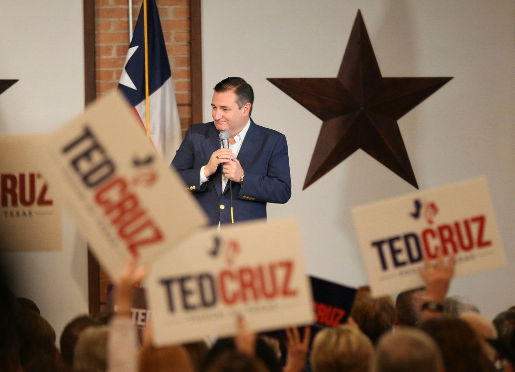 Sen. Ted Cruz (R-TX) speaking during a rally at Gilley's at 1135 South Lamar St. in Dallas on Wednesday, October 24, 2018. Cruz will be speaking at the Arlington Music Hall in Arlington, Texas tomorrow. (Daniel Carde/The Dallas Morning News)