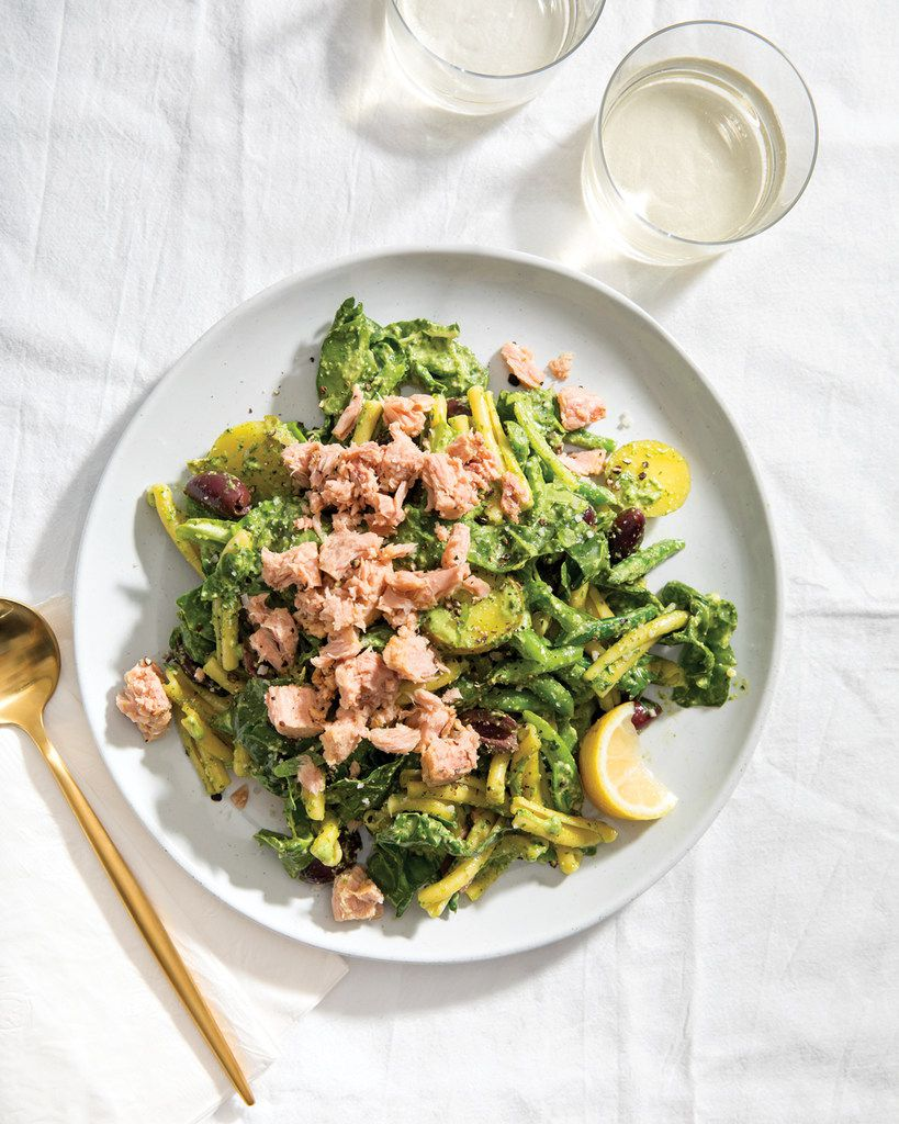 Maggie Battista's Nicoise Pasta Salad with Basil Dressing