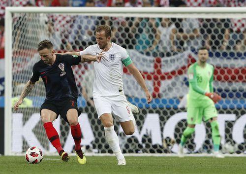 Croacia e Inglaterra se enfrentaron  el miércoles en semifinales del Mundial de Rusia 2018. Foto AP