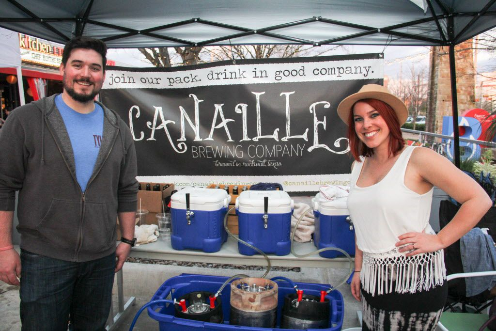 Sam and Meg Murphy oF Canaille Brewing Company were at Luckapalooza in Trinity Groves on March 22, 2015.