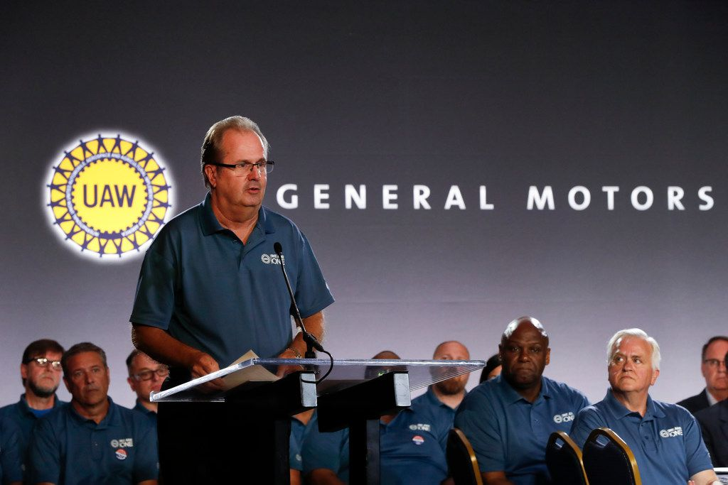 United Auto Workers President Gary Jones spoke in July at the opening of the union's contract talks with General Motors.