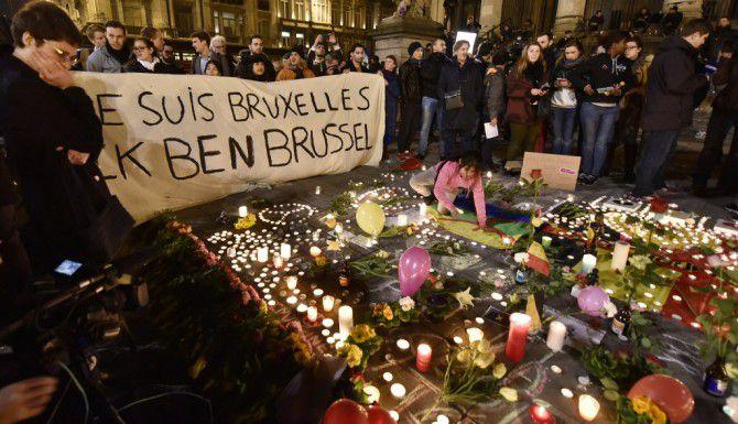 Place de la Bourse en el centro de Bruselas/AP