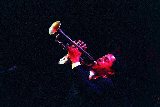 Hargrove plays his trumpet during his Caravan of Dreams performance. (Juan Garcia/DMN File Photo)