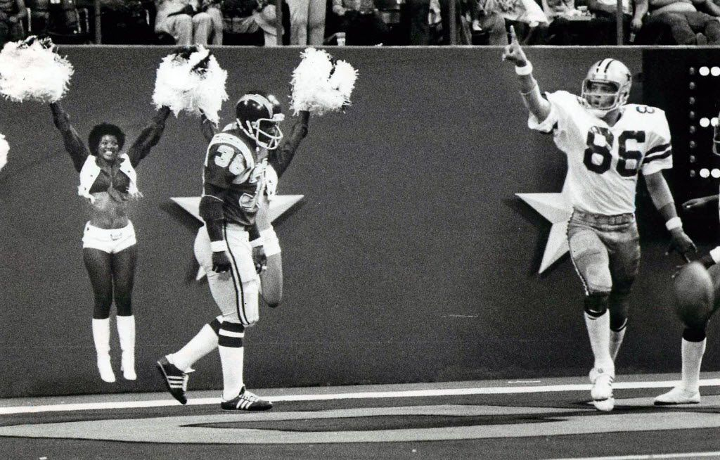 An Aug. 5, 1977 photo from Texas Stadium, featuring a game between the Dallas Cowboys and the San Diego Chargers.