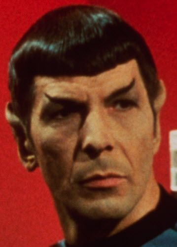 Leonard Nimoy as Mr. Spock in the television series, 'Star Trek.'