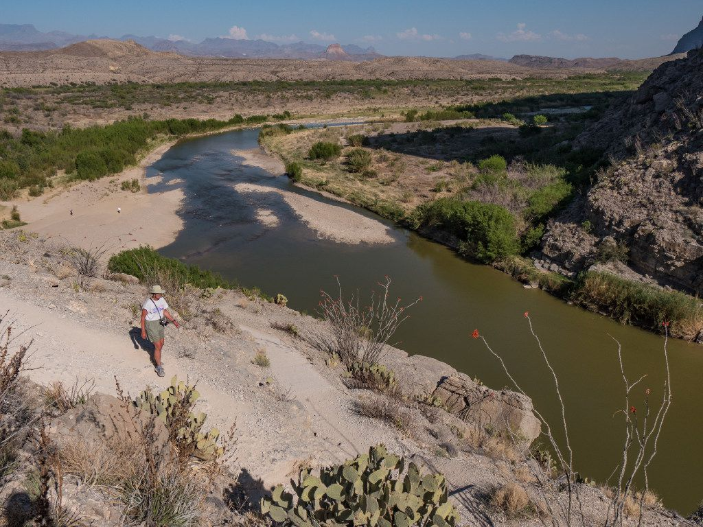 Dianne Leeth hikes the Santa Elena Canyon Trail in Big Bend National Park.