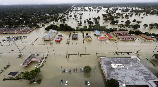 Efectos del pasó del huracán Harvey en Houston./AP