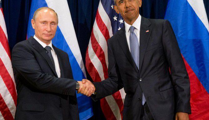 Barack Obama se reunió el lunes con el presidente ruso Vladimir Putin (AP/ANDREW HARNIK)