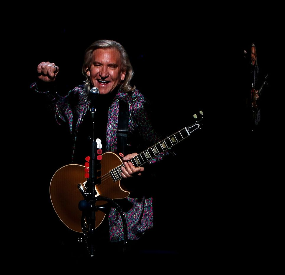 The Eagles perform volumes of classic hits from their arsenal to the delight of a capacity crowd in attendance. Chris Stapleton, who opened for the group, and the Eagles performed at AT&T Stadium in Arlington on June 23, 2018. (Steve Hamm/ Special Contributor)