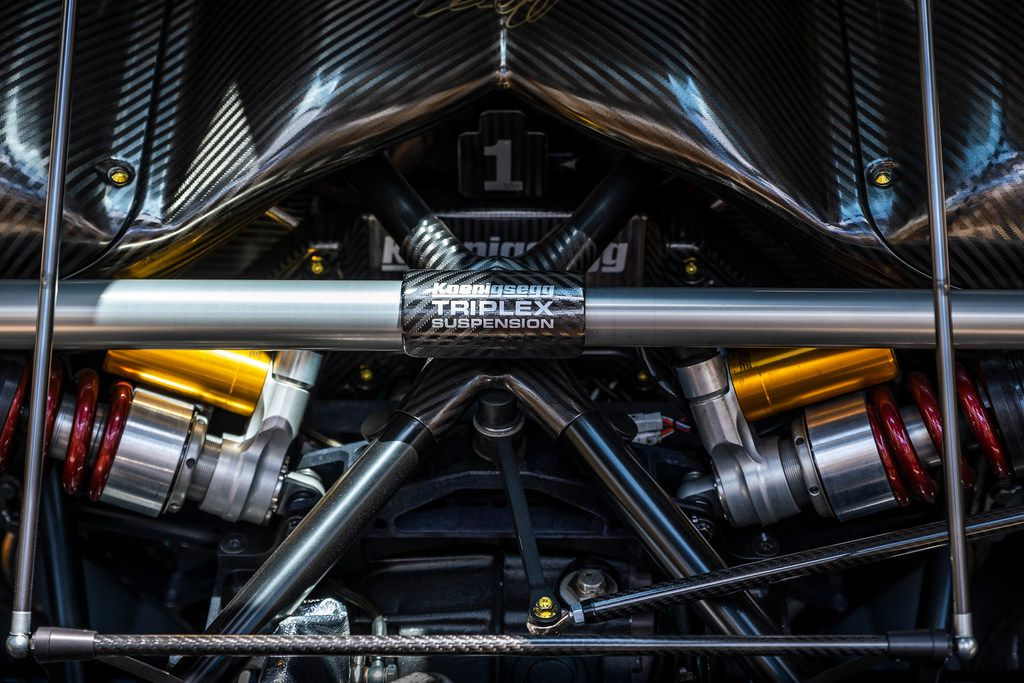 A view under the hood of the Koenigsegg Agera RS.
