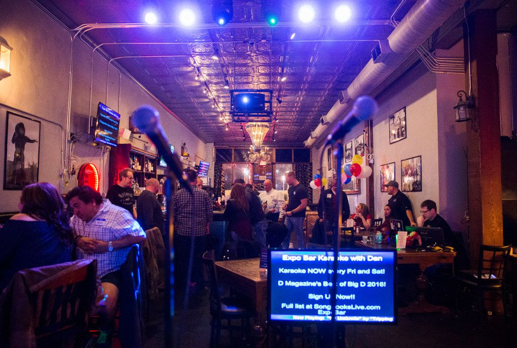 Karaoke at Expo Bar Dallas across the street from Fair Park on Saturday, January 28, 2017 on Parry Avenue in Dallas.