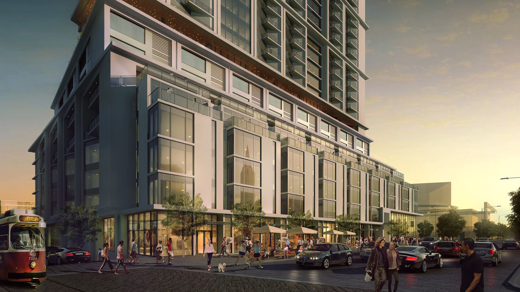 The Atelier apartments will be built in downtown Dallas' Arts District.