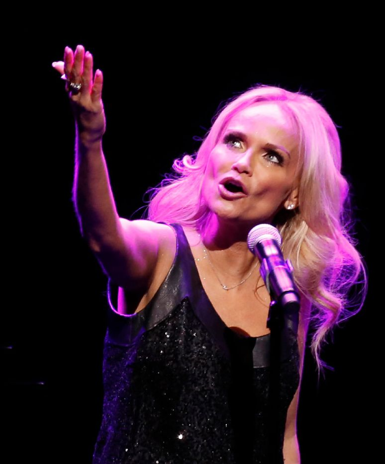 Kristin Chenoweth sings during her performance at Winspear Opera House in Dallas on January 25, 2017. (Nathan Hunsinger/The Dallas Morning News)