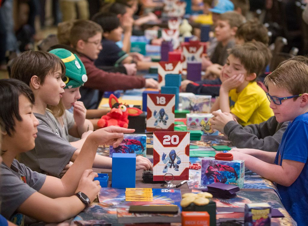 Some of the 1,600-plus participants in the Pokemon Regional Championships compete at the Hyatt Regency at D/FW International Airport on Jan. 27, 2017.