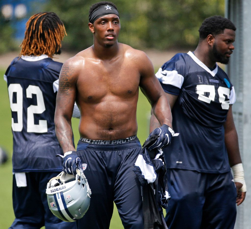 Dallas defensive end Taco Charlton is pictured during the Dallas Cowboys full-squad minicamp practice at the Star in Frisco, photographed on Thursday, June 15, 2017. (Louis DeLuca/The Dallas Morning News)