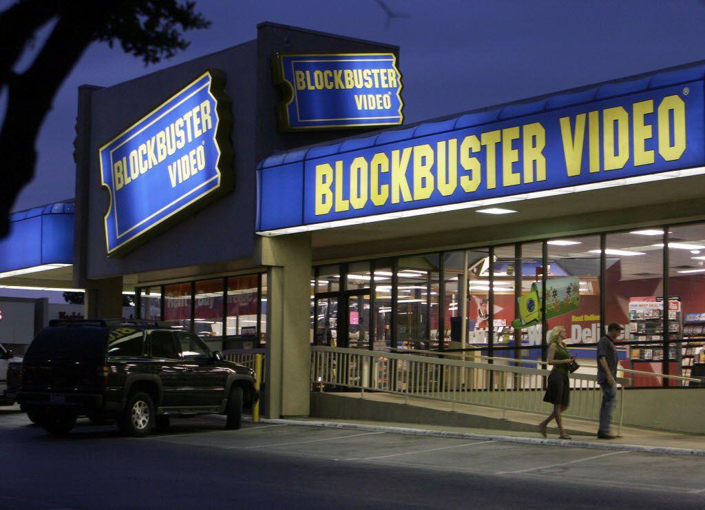 A Blockbuster Video store in Dallas.