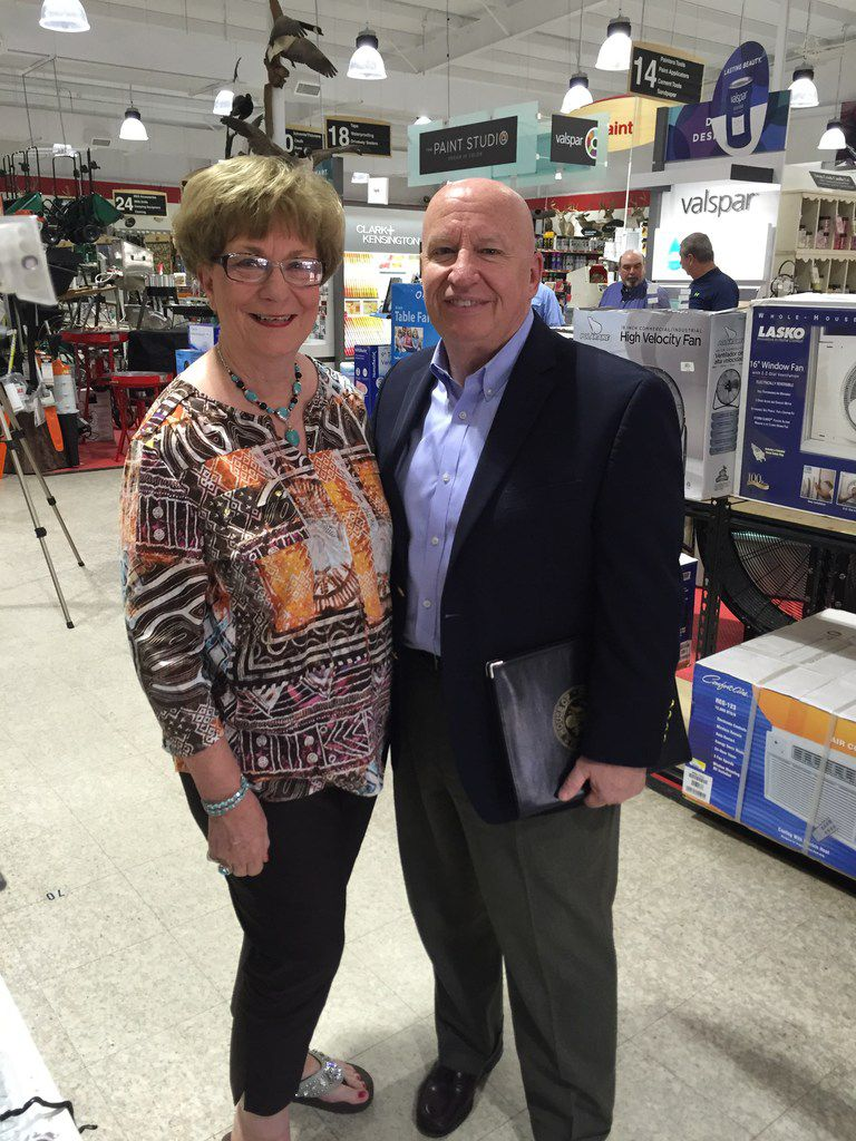 Rep. Kevin Brady, R-The Woodlands, poses with Livingston rancher Pat Snook at a tax event in Huntsville on April 17, 2015. Brady, the House's top tax writer, often cites Snook to make the case for getting rid of the estate tax.