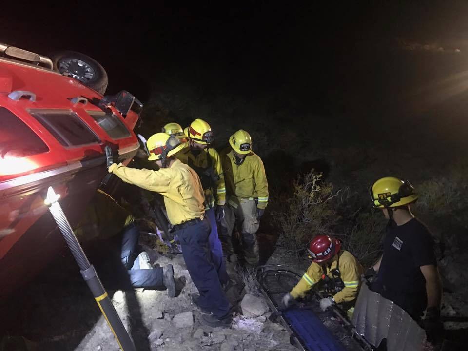 Mujer sobrevive cinco dias atrapada en su carro/ El Departamento de Bomberos de San Bernardino