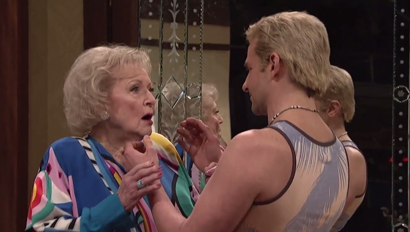 Betty White and Bradley Cooper stole the show by making out in 'The Californians.'
