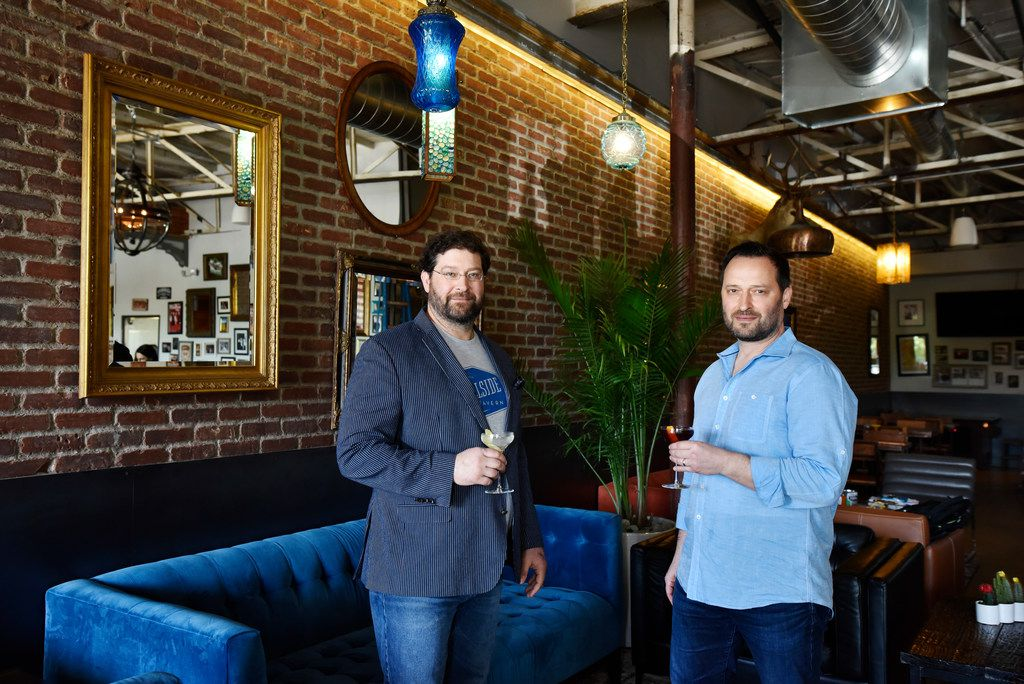 Co-owners Brooks Anderson, left, and Bradley Anderson are opening Hillside Tavern on April 8, 2019.
