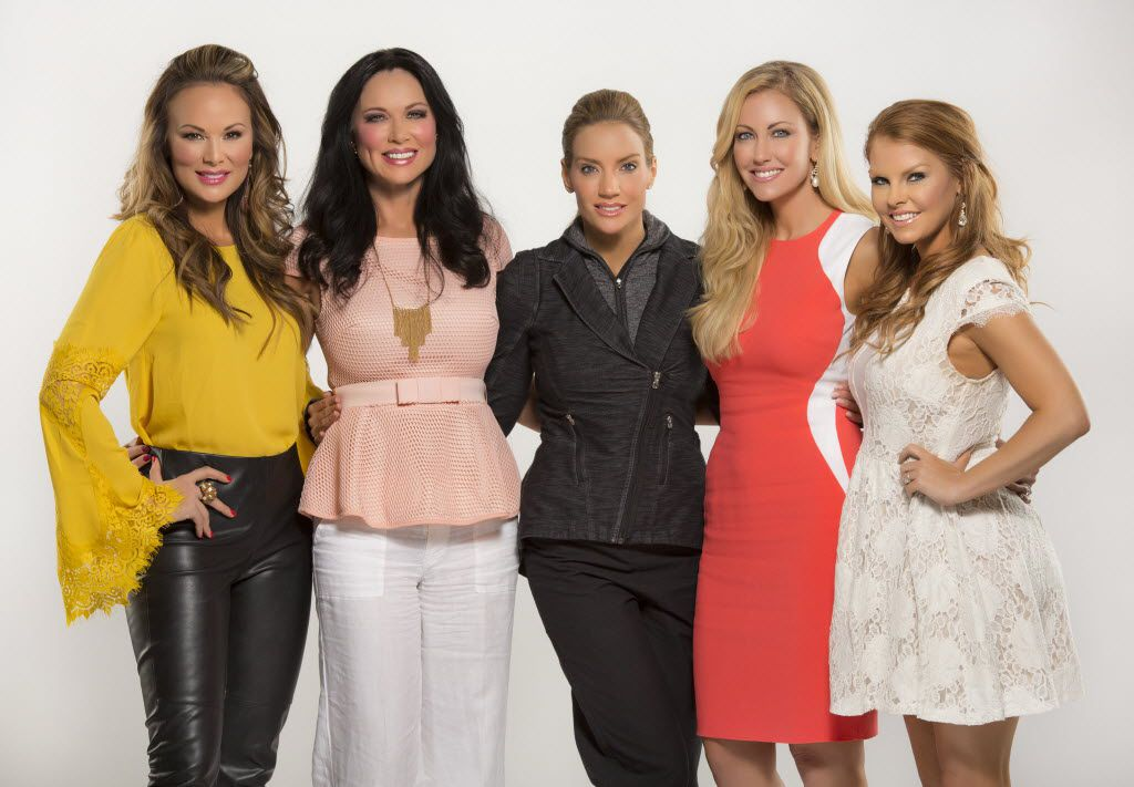 """Real Housewives of Dallas"" cast members (from left) Tiffany Hendra,  LeeAnne Locken, Cary Deuber, Stephanie Hollman, and Brandi Redmond photographed in The Dallas Morning News photo studio April 6, 2016."