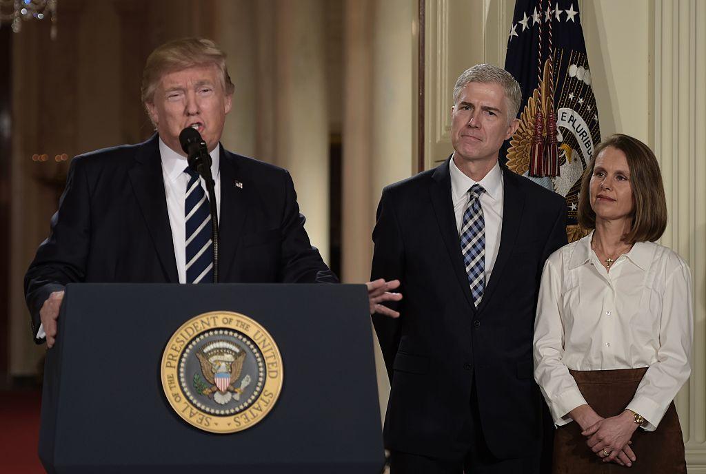 Donal Trump anunció a al Juez Neil Gorsuch como su nominado a la Corte Suprema./GETTY IMAGES