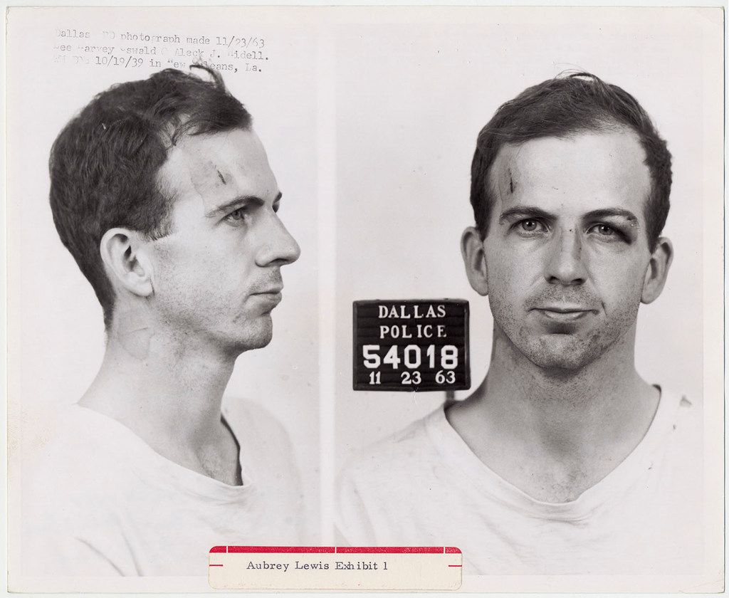 To observe the 50th anniversary of President John F. Kennedy's assassination in Dallas, The National Archives digitized many materials relating to his assassination. This is one of the digitized images of records which had previously been available only in hard copy form.  Warren Commission, Aubrey Lewis Exhibit 1 Dallas Police Department photos of Lee Harvey Oswald, taken November 23, 1963.