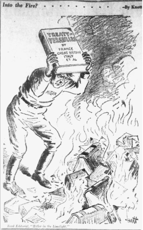 Cartoon featured in the May 16, 1933 edition of The Dallas Morning News.