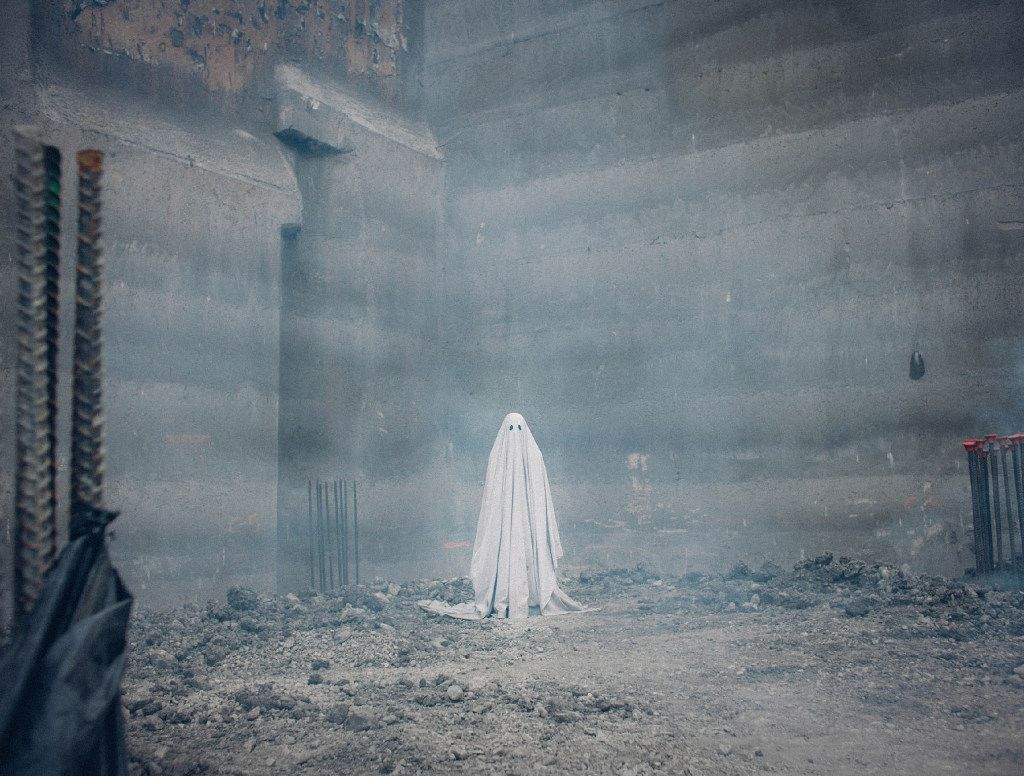 A film still from A Ghost Story by David Lowery, an official selection of the NEXT program at the 2017 Sundance Film Festival.