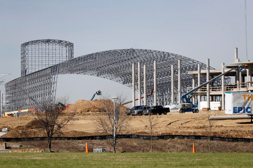 The Epic construction continues in Grand Prairie on Thursday, March 2, 2017. The Epic will feature an indoor water park. (Vernon Bryant/The Dallas Morning News)