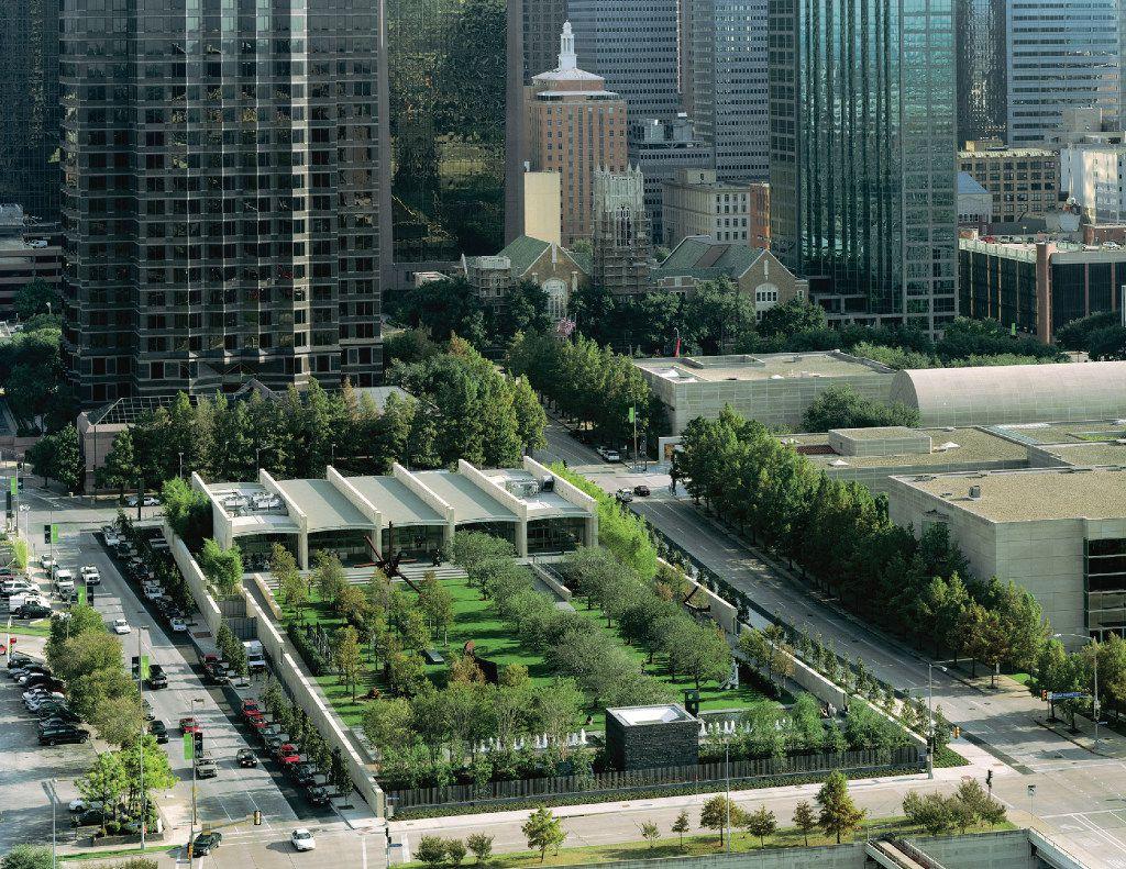 The Nasher Sculpture Center gardens designed by Peter Walker