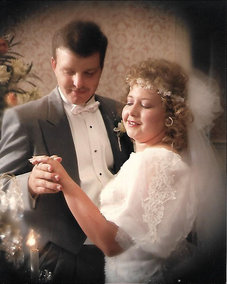 For years, Debbie and Steve Dawson thought they had lost all of their wedding pictures in Hurricane Katrina. But a relative in Baton Rouge who had a box full of family photos recently found this copy and sent it to them.