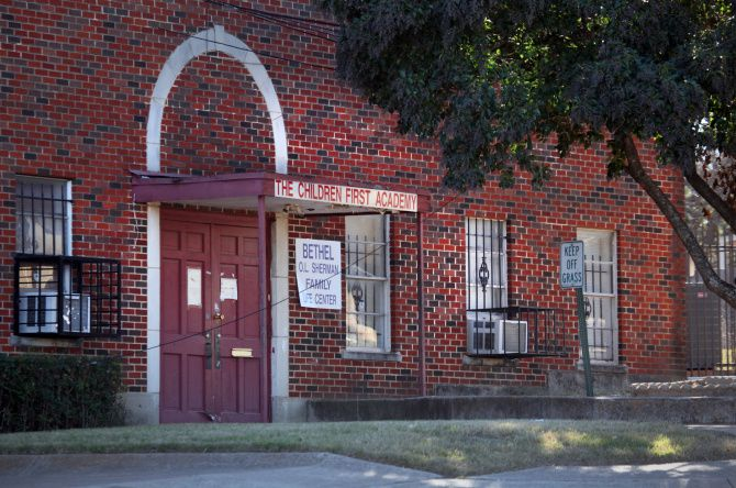 State officials opened a financial investigation into Children First Academy of Dallas, shown at its former location. Records show that school leaders have hired multiple family members, some of them with six-figure salaries.