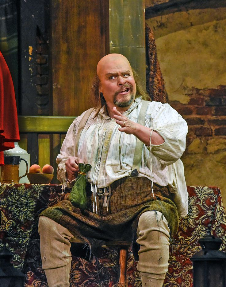 Mark Delavan in the title role of Verdi s Falstaff, which the Dallas Opera is presenting in late April.
