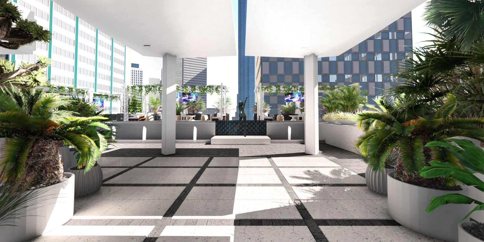 A lounge area on the ninth floor of The Drever tower.