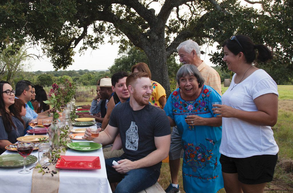 Adrian Davila's family and friends gather in Seguin for a meal.